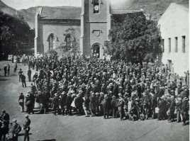 boer prisoners on parade, St Helena Island