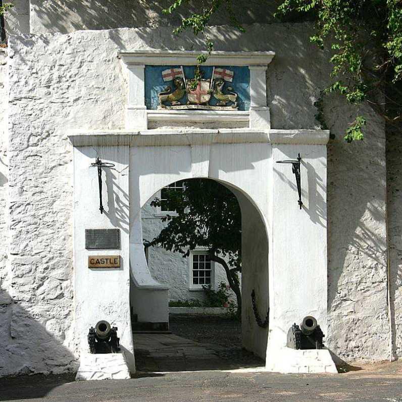 The Castle entrance, St Helena Island