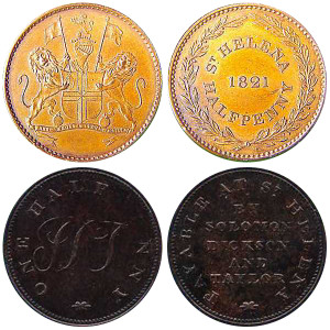 Old St Helena coins