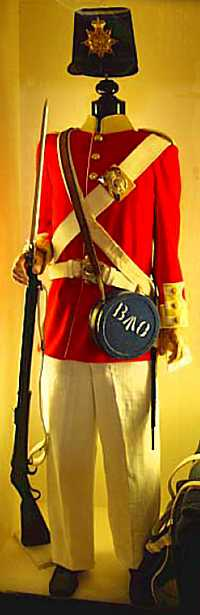 St Helena Regiment uniform, St Helena Island