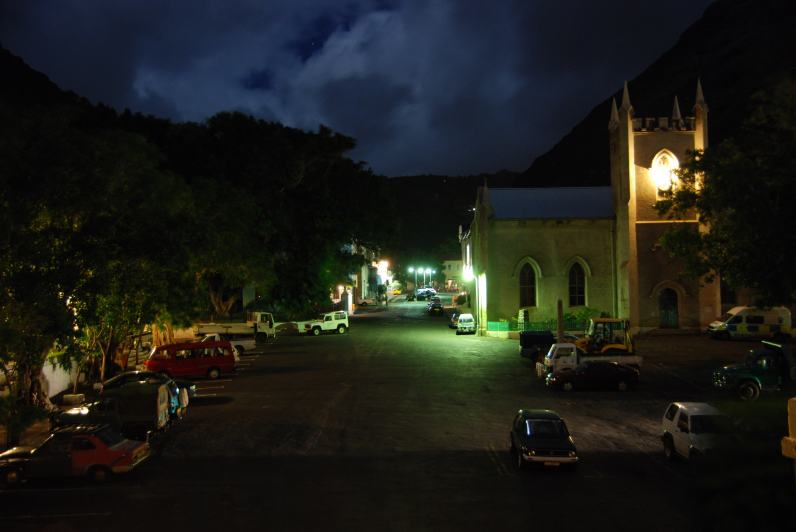 St James Church at night, St Helena Island