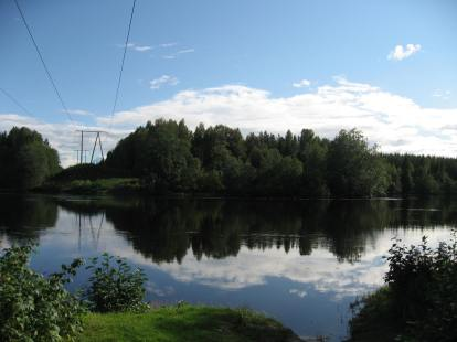 Skogaforsen - lugnvattnet ovanför