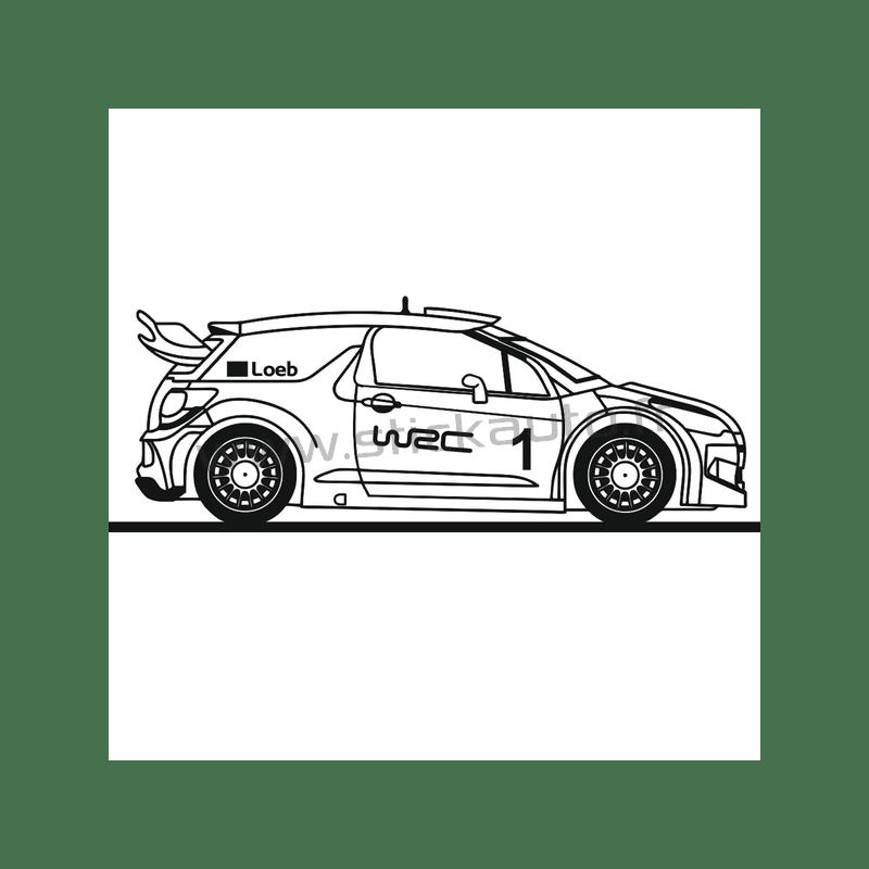 Sticker Voiture DS3 Rally