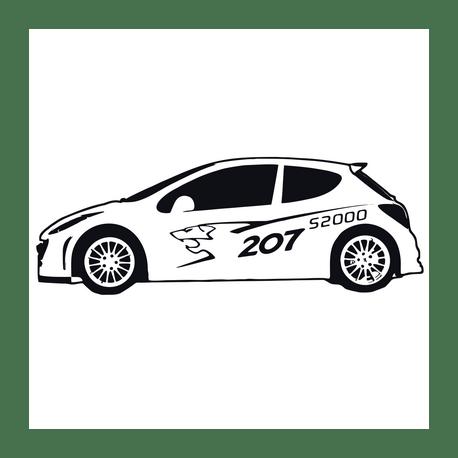 Stickers Peugeot 207 S2000