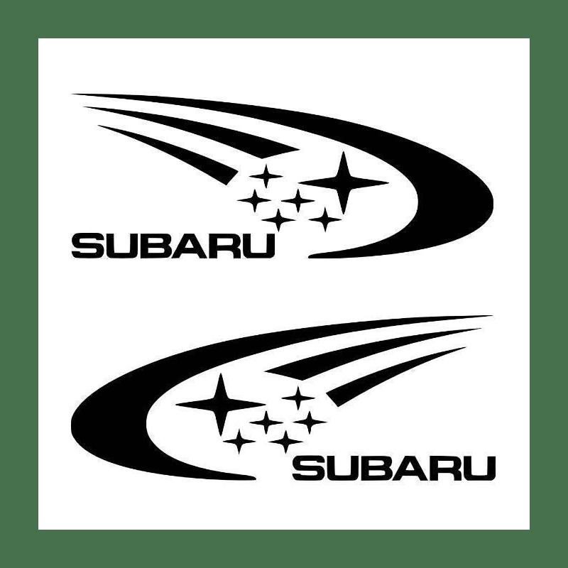 Kit 2 Stickers Subaru Rally 160cm