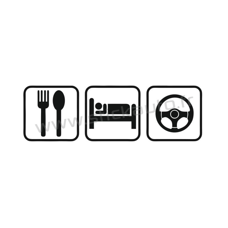 Stickers Eat Sleep Drive