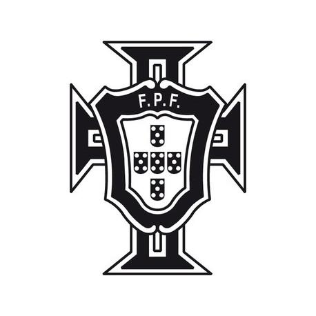 Sticker Autocollant Portugal coupe blanc et noir Etiquette