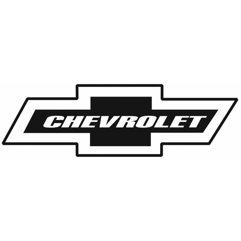 Sticker CHEVROLET NOIR Etiquette & Autocollant