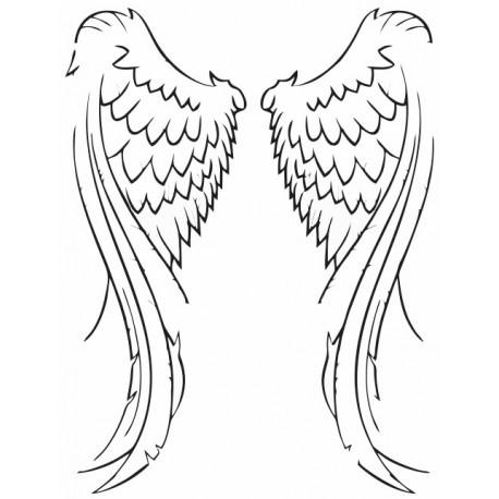 Sticker Ailes d'ange Etiquette & Autocollant