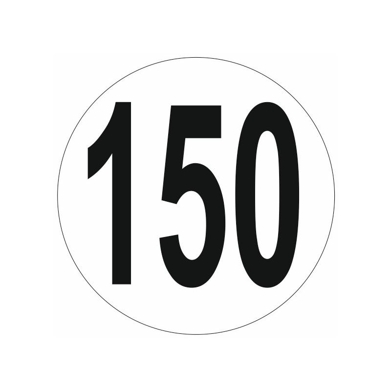 Sticker Limitation de vitesse 150 KM Etiquette & Autocollant