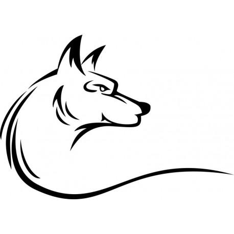 Sticker loup logo pour votre décoration d'animaux de la