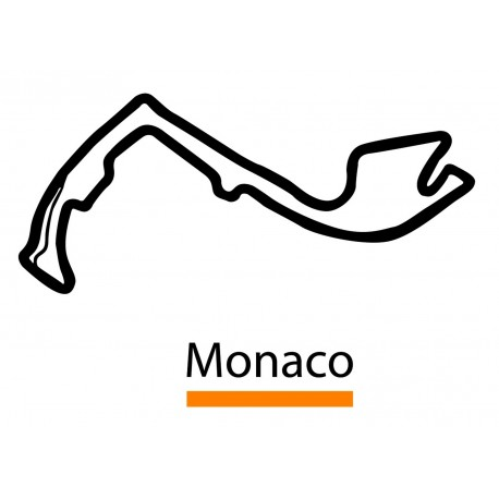 Sticker circuit monaco univers automobile à petit prix