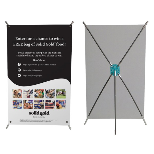 Mini X Frame Table Top Banner Stand With Graphic 11