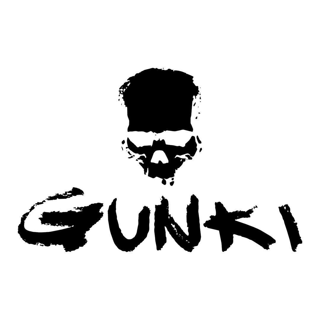 Stickers Gunki REF 1 Marque matériel de pêche autocollant