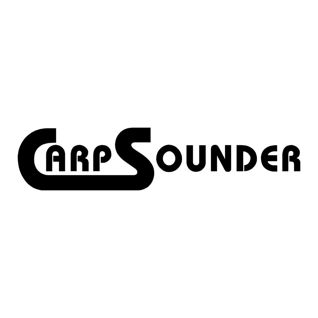 sticker CARP SOUNDER ref 1 Marque matériel de pêche