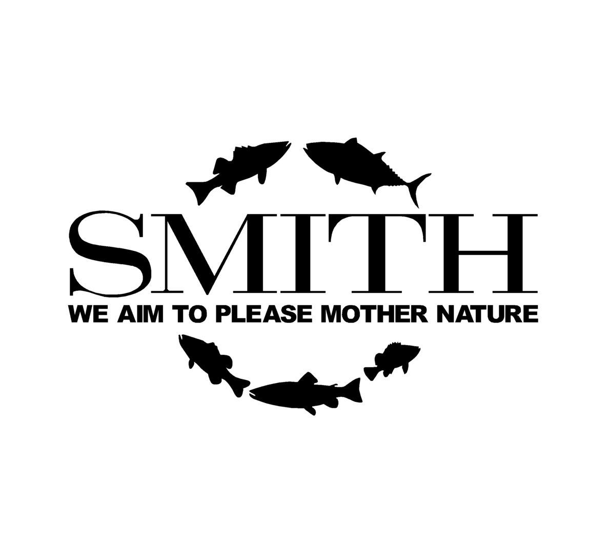 sticker SMITH ref 2 Marque matériel de pêche autocollant