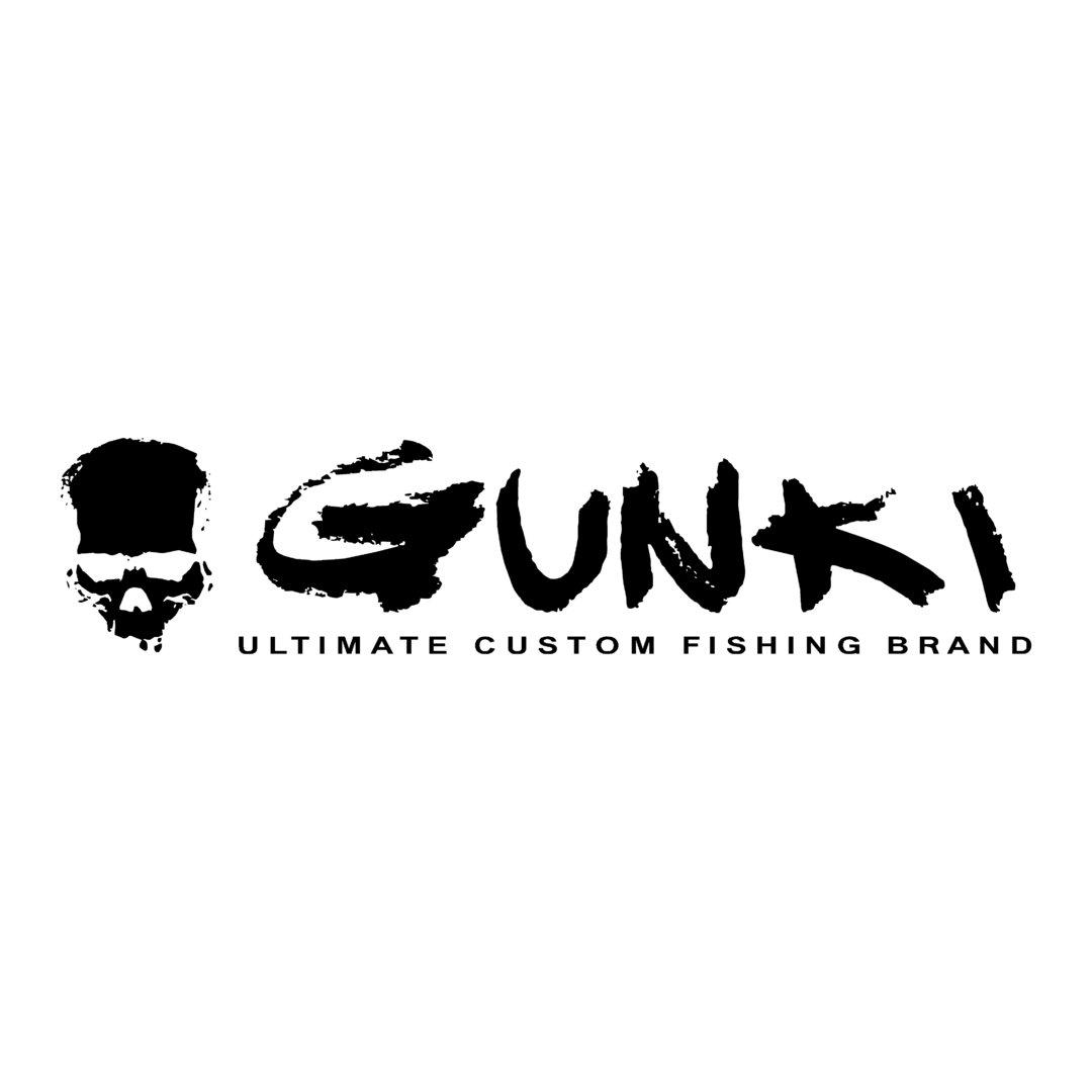 sticker GUNKI ref 2 marque de matériel pêche autocollant