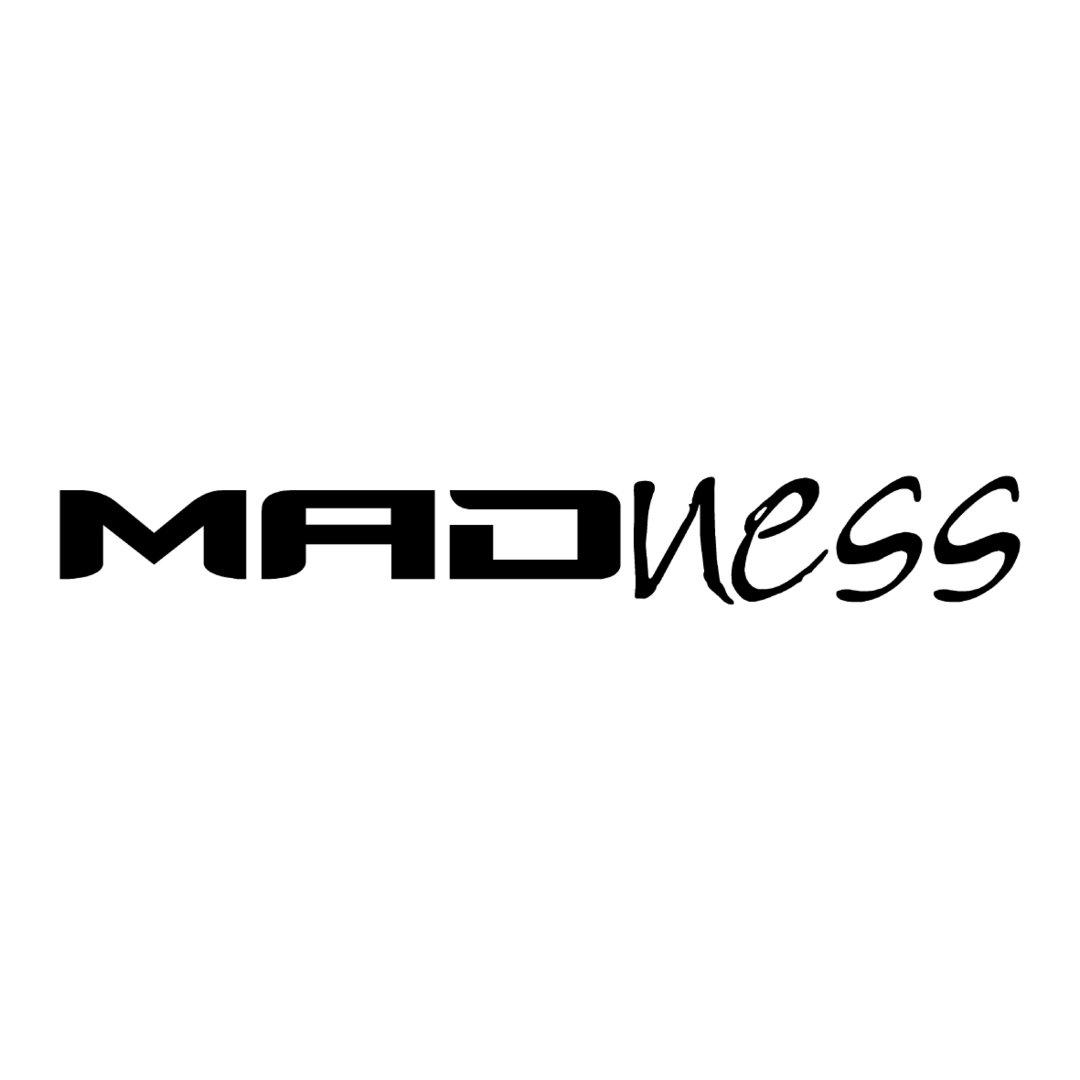 sticker MADNESS ref 1 marque matériel pêche autocollant