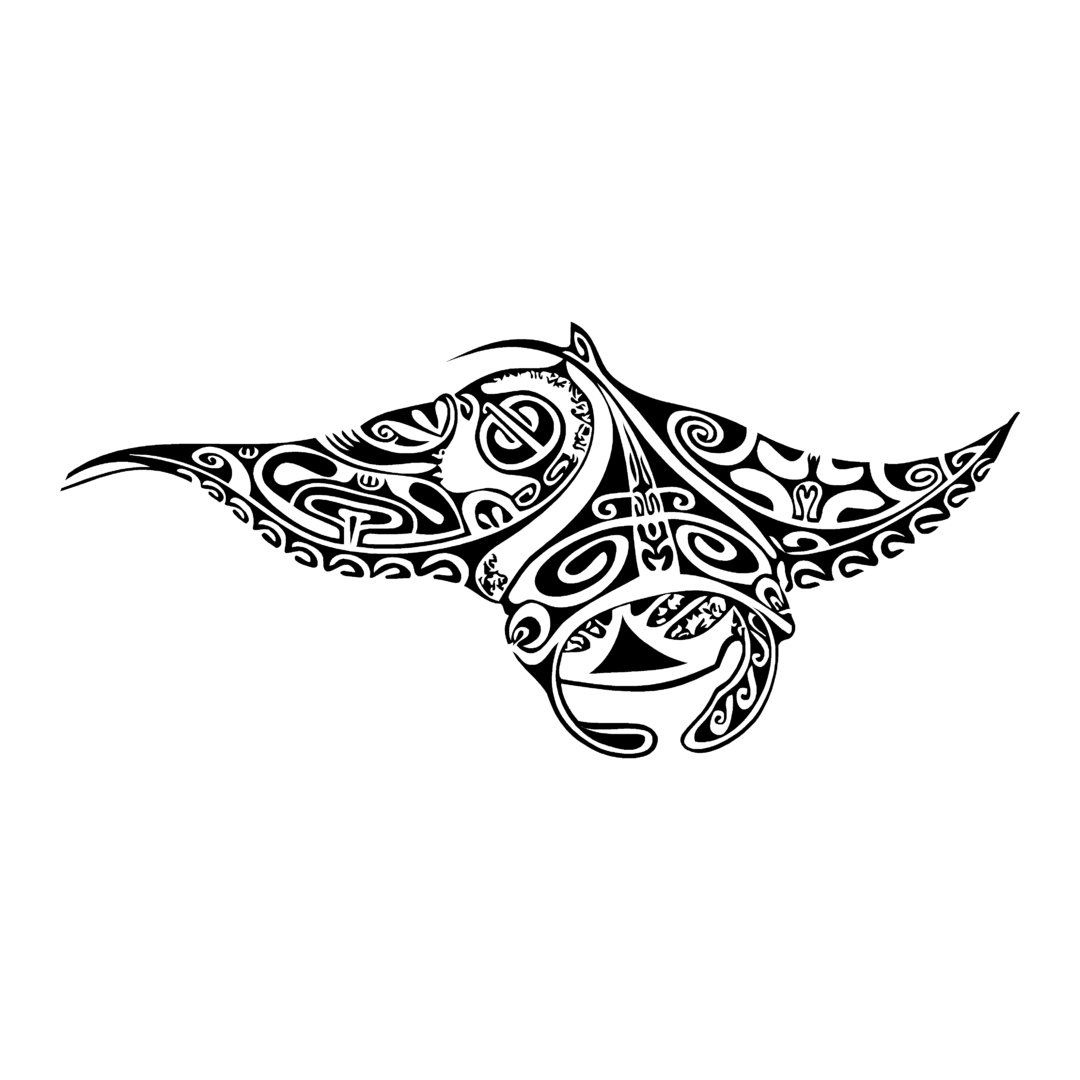 sticker RAIE ref 8 manta tribal bateau autocollant jet ski