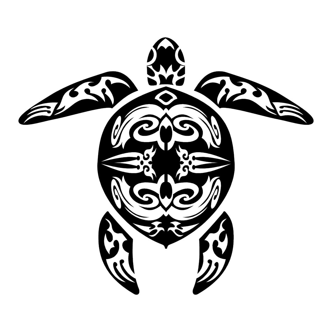 sticker TORTUE marine ref 2 tribal bateau autocollant jet