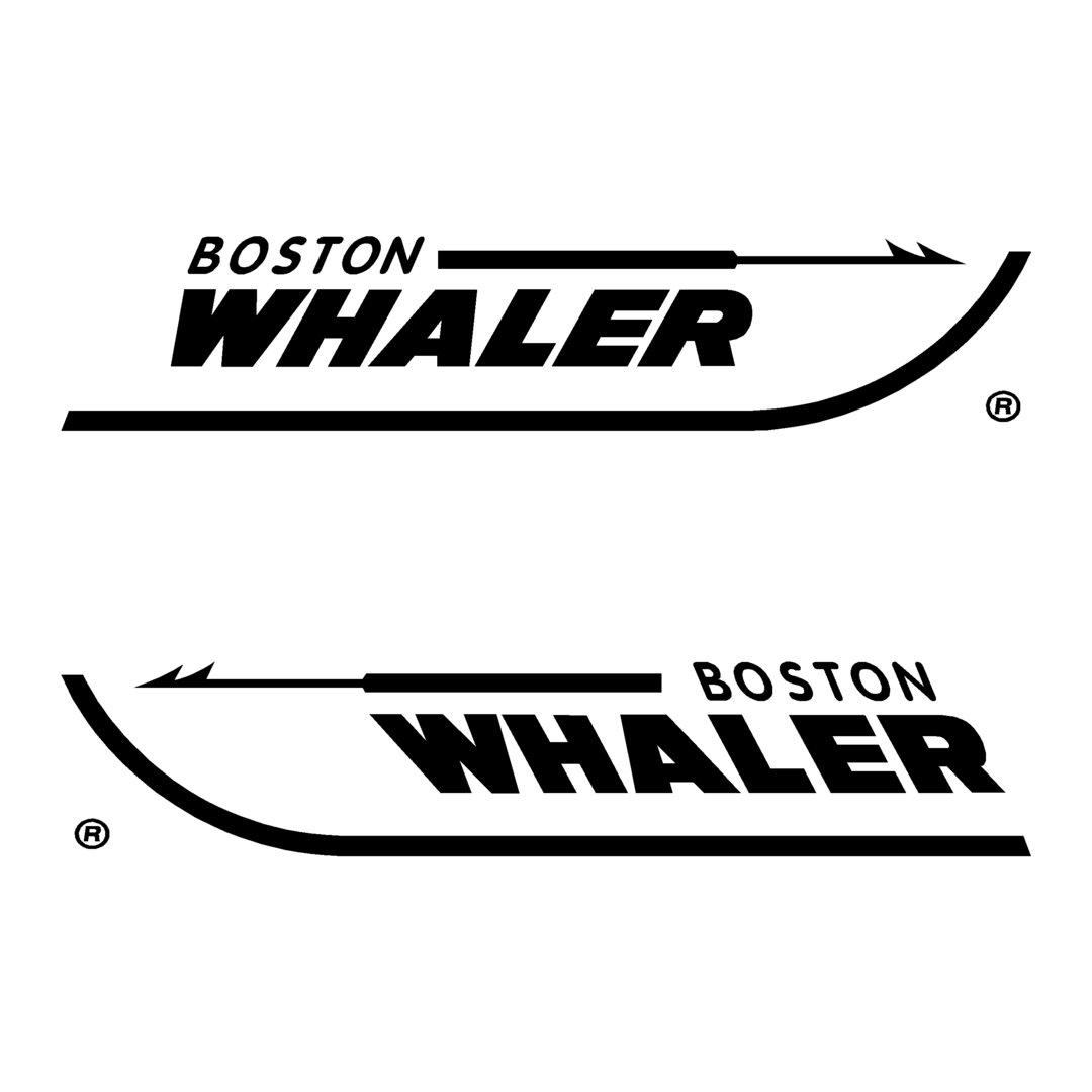 2 Stickers BOSTON WHALER ref 3 bateau pêche nautisme