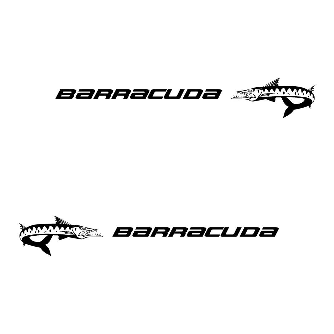 2 Stickers BARRACUDA BENETEAU ref 17 chaque coté de votre
