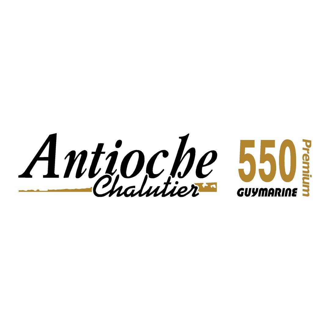 sticker pour coque bateau GUYMARINE Antioche Chalutier 550