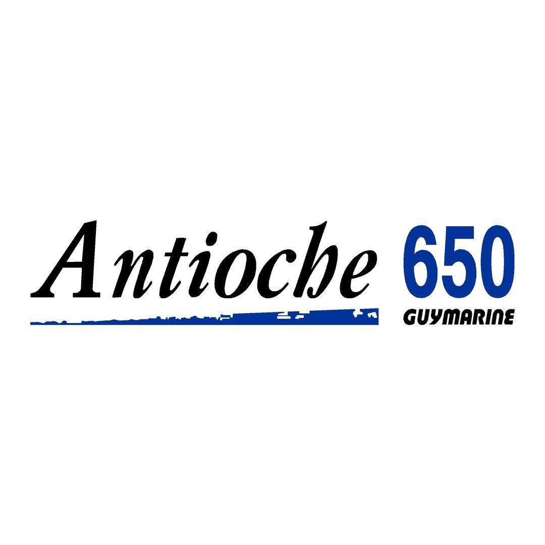 sticker pour votre coque bateau GUYMARINE antioche 650 ref 15