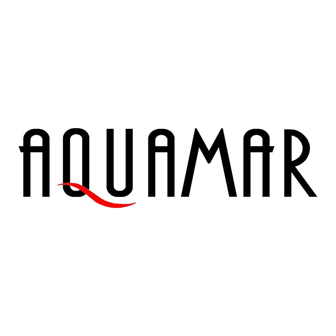1 sticker AQUAMAR ref 1 autocollant bateau de pêche promenade