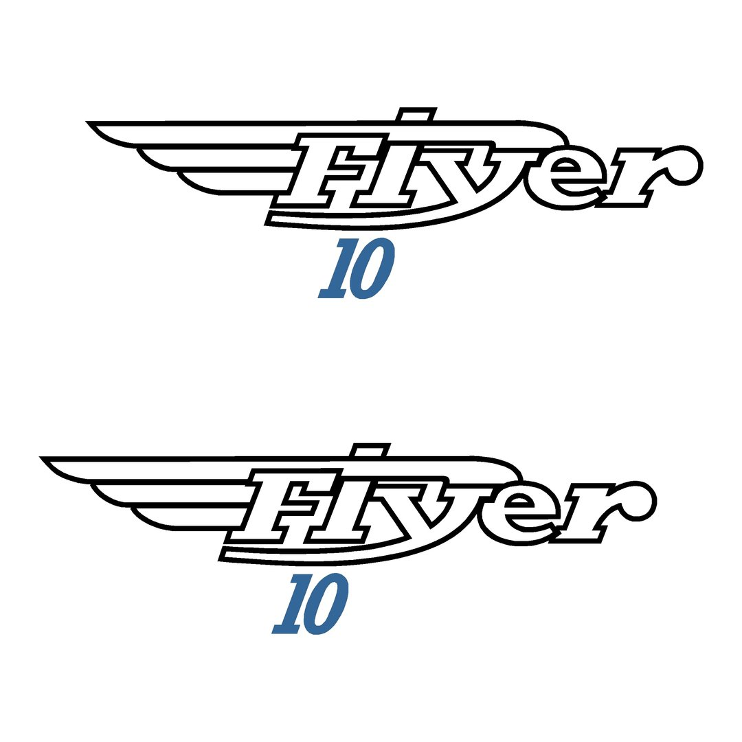 2 Stickers BENETEAU FLYER 10 ref 27 pour chaque coté coque