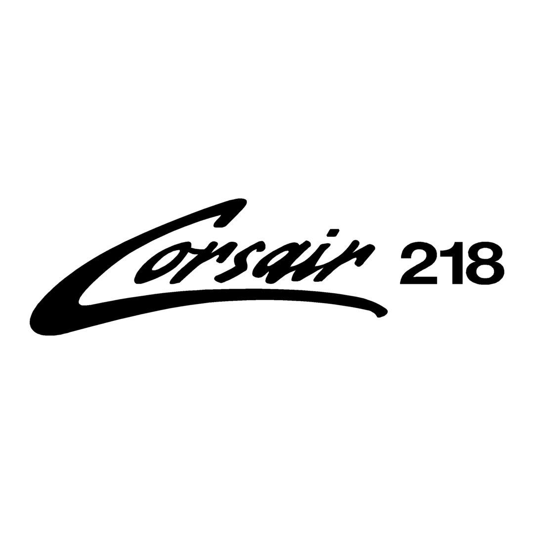 sticker SUNBIRD corsair 218 Marque matériel de pêche sponsor