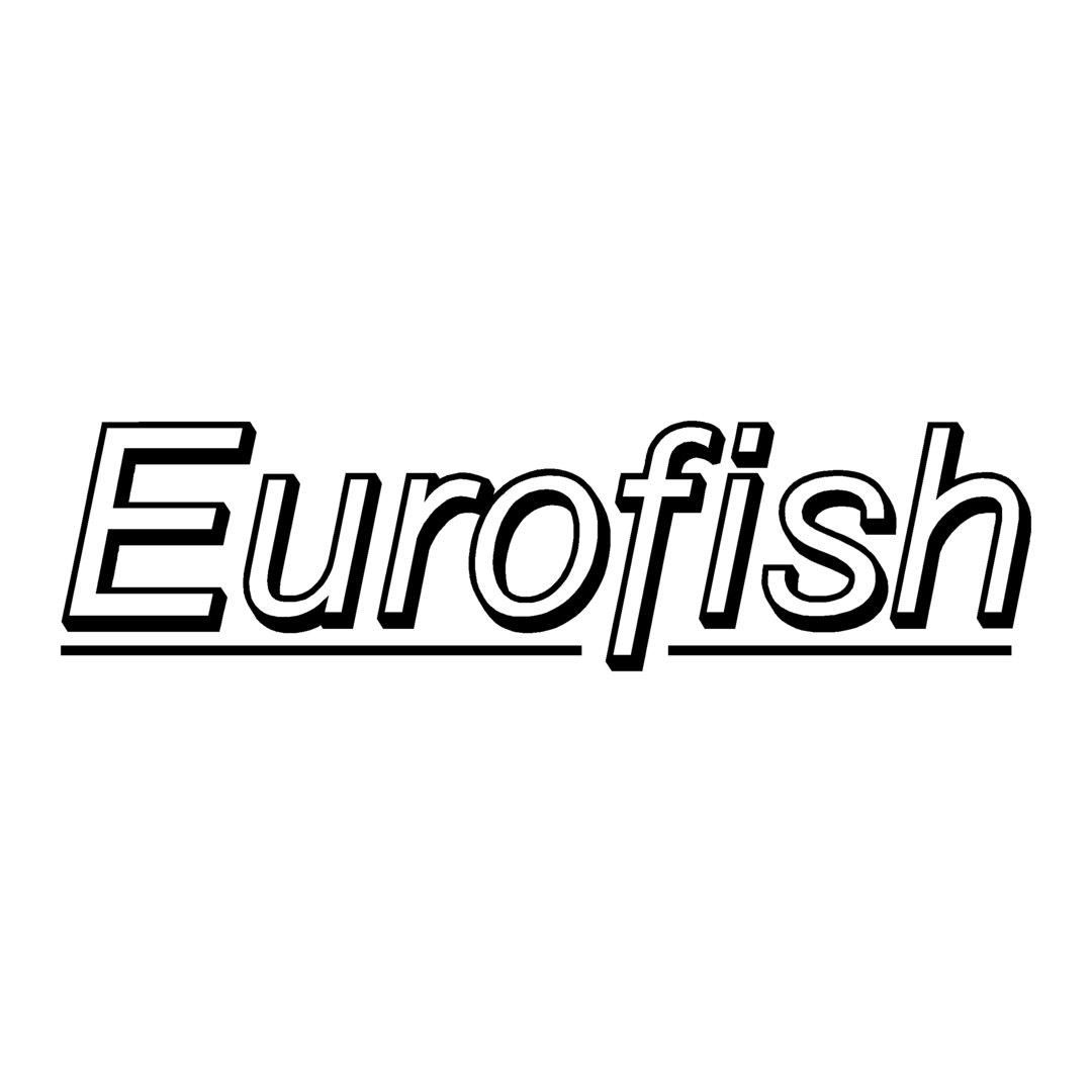 sticker EUROFISH ref 1 marque matériel pêche autocollant