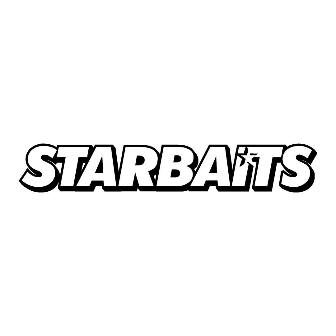 sticker STARBAITS ref 4 sponsor marque de pêche