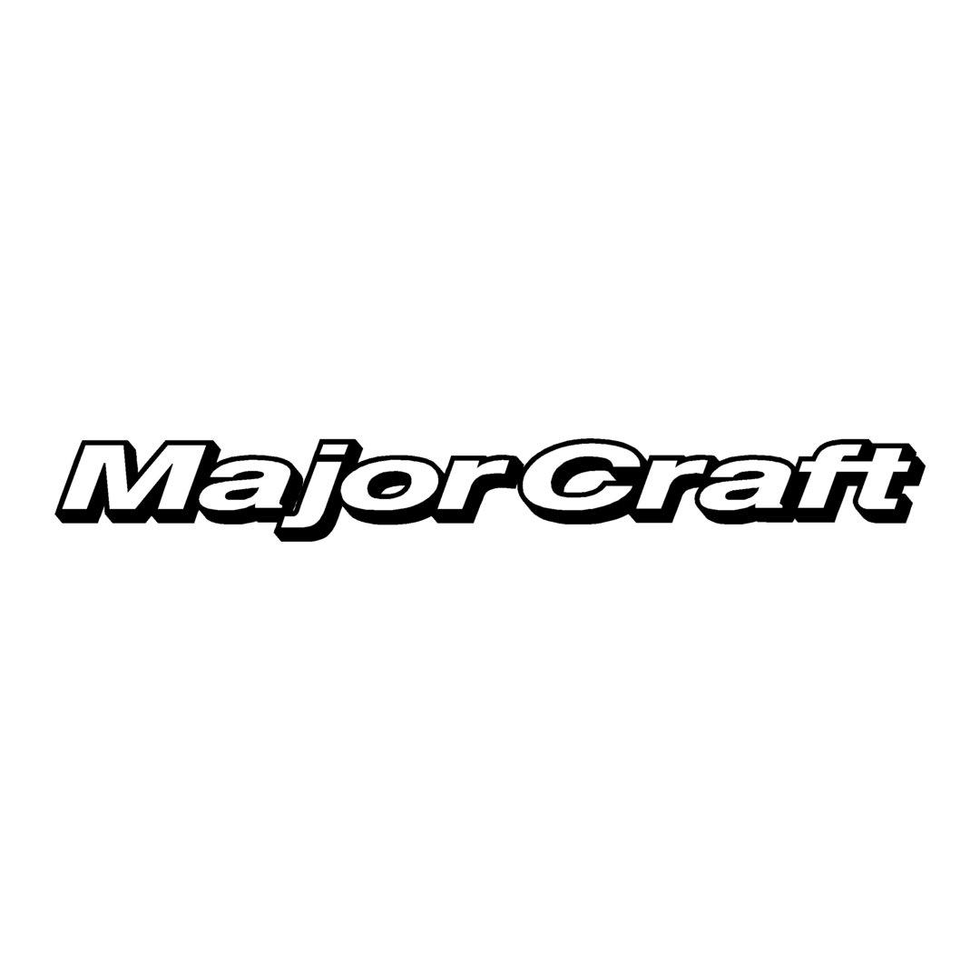sticker MAJOR CRAFT ref 2 marque de matériel pêche autocollant