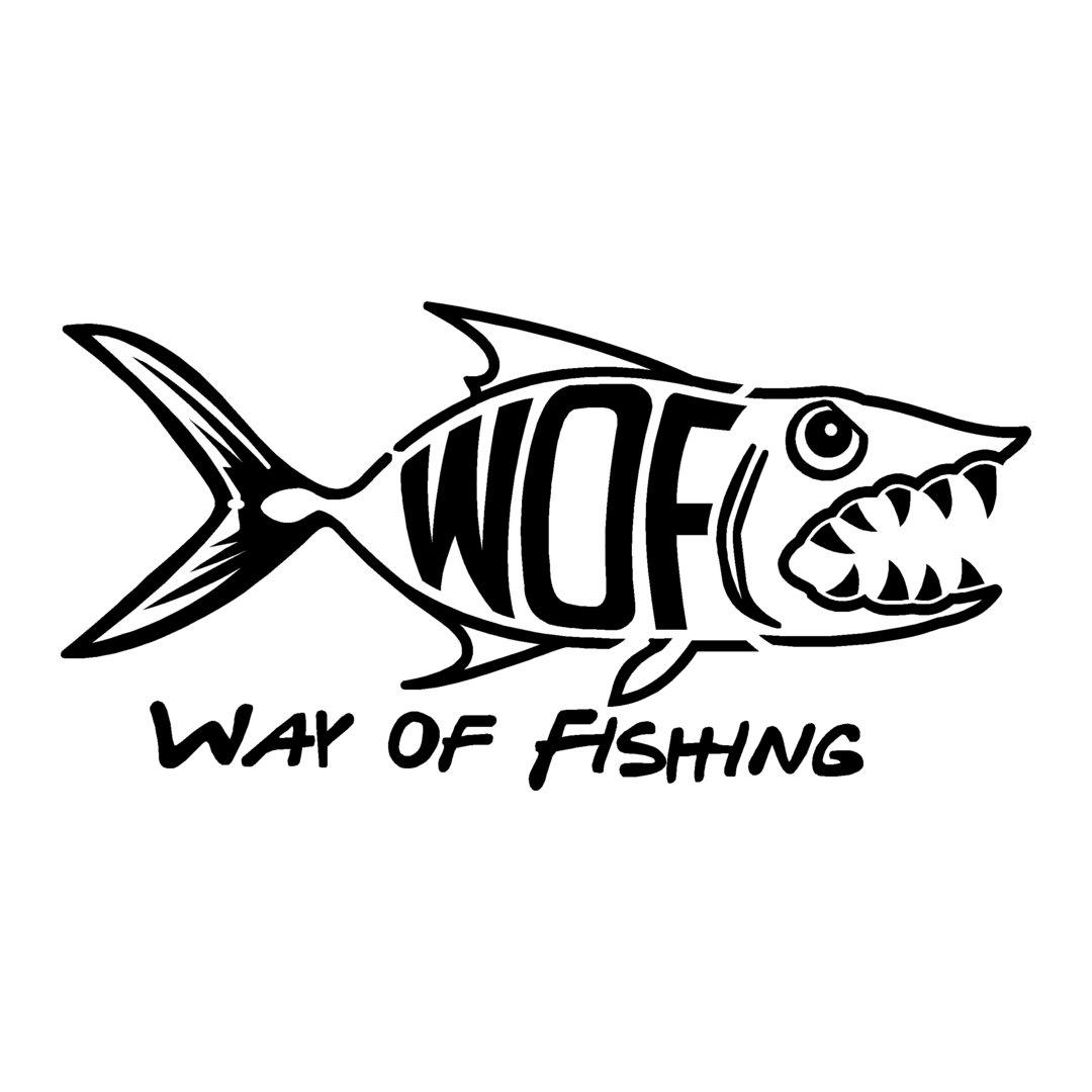 sticker WAY OF FISHING ref 4 marque matériel de pêche