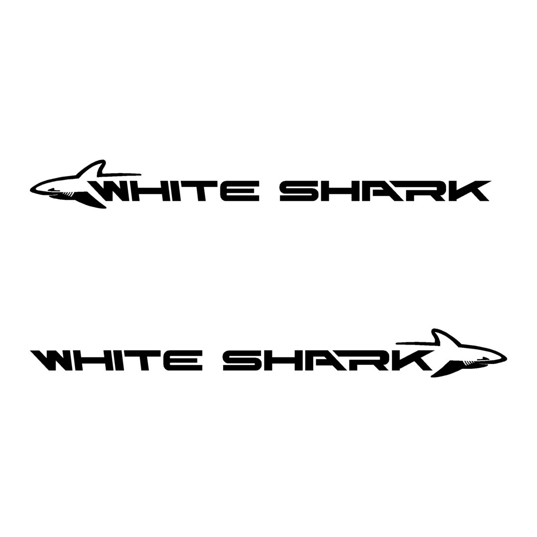 2 Stickers WHITE SHARK KELT ref 4 autocollant coque bateau