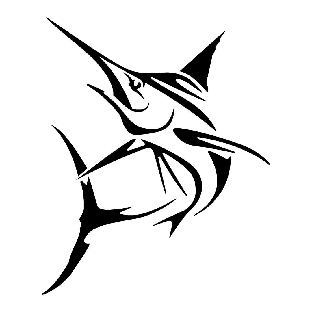 sticker ESPADON ref 1 bateau pêche poisson autocollant