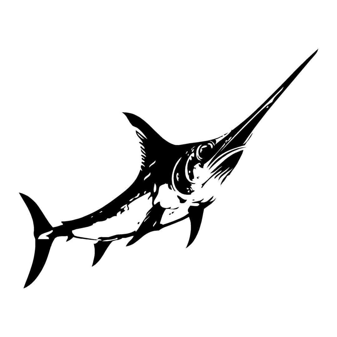 sticker ESPADON ref 5 bateau pêche poisson autocollant