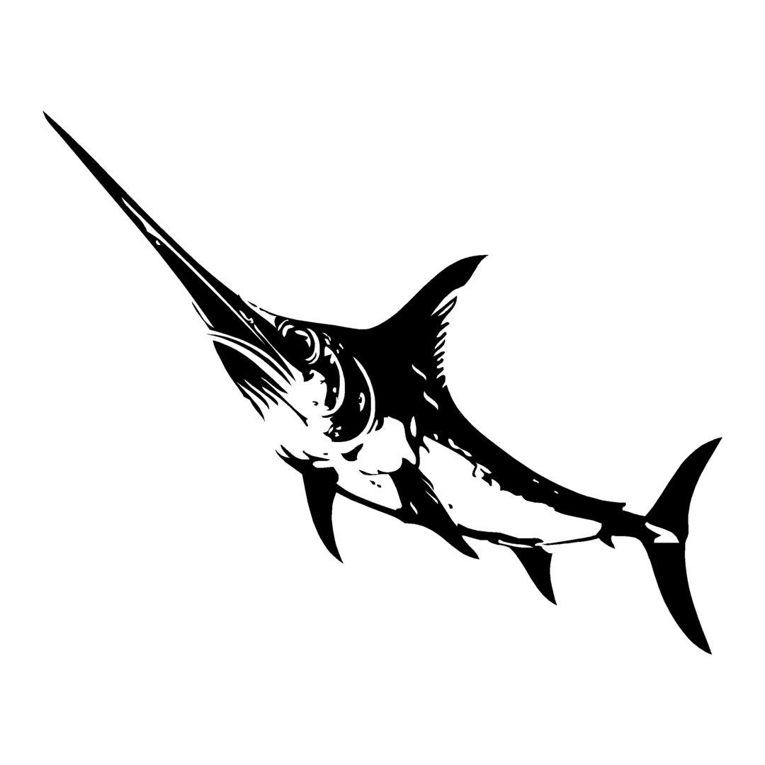 sticker ESPADON ref 6 bateau pêche poisson autocollant