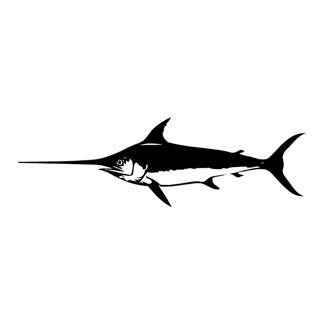 sticker ESPADON ref 7 bateau pêche poisson autocollant