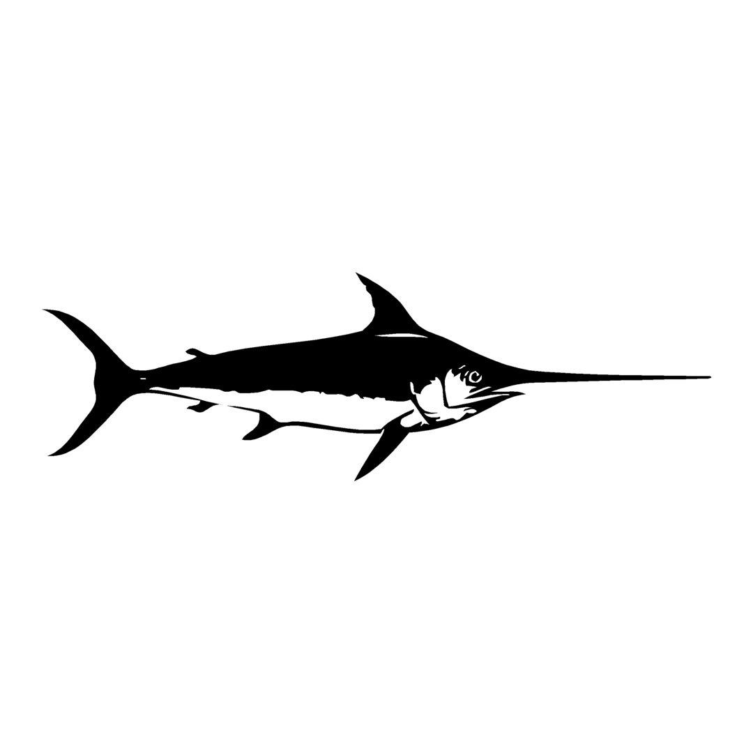 sticker ESPADON ref 8 bateau pêche poisson autocollant