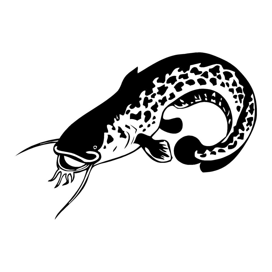 sticker SILURE ref 17 bateau pêche poisson chat autocollant
