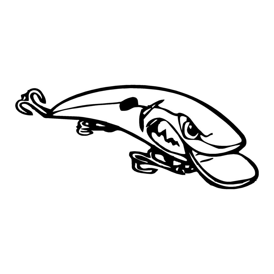 sticker poisson LEURRE ref 50 autocollant coque bateau