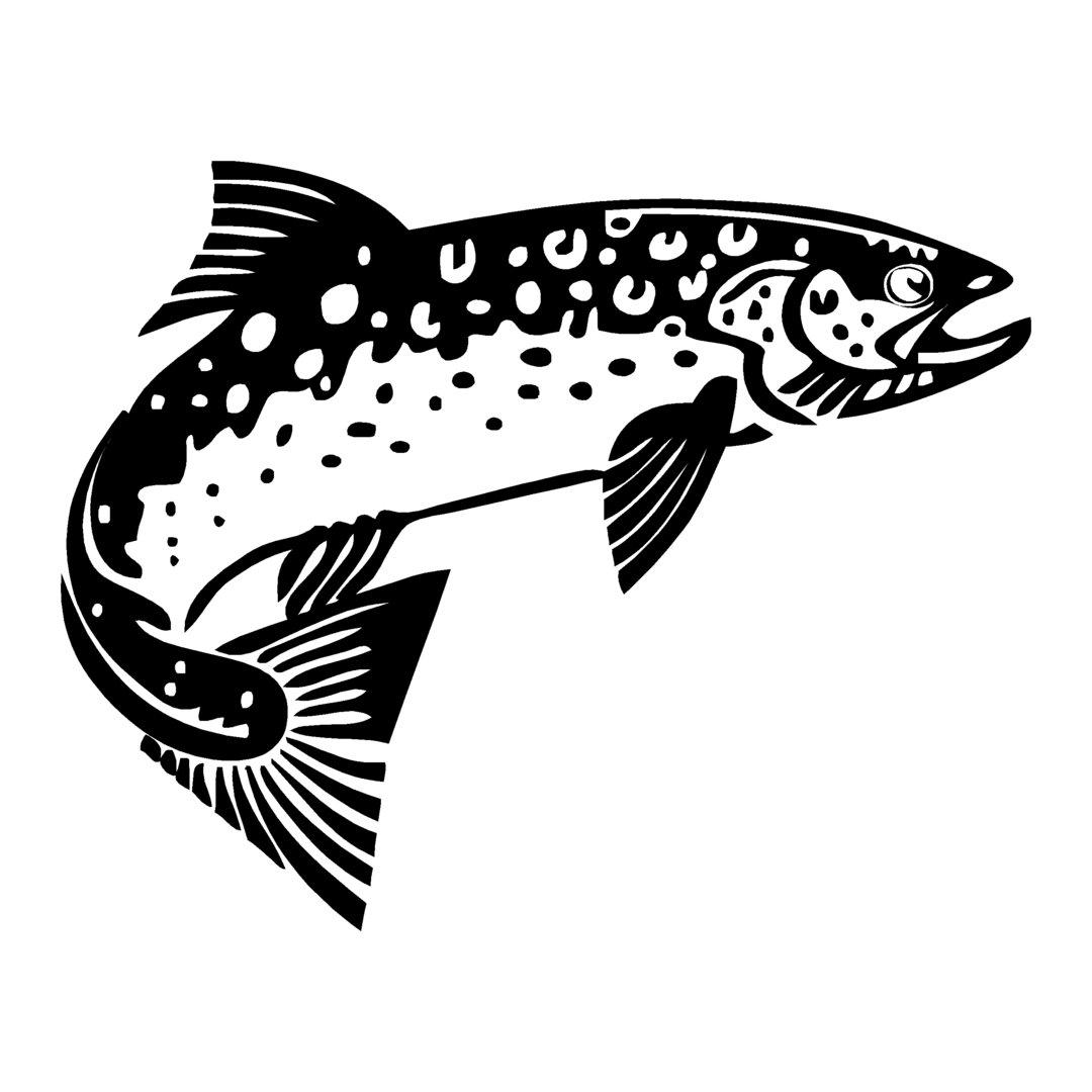 sticker TRUITE ref 62 autocollant poisson saumon coque bateau