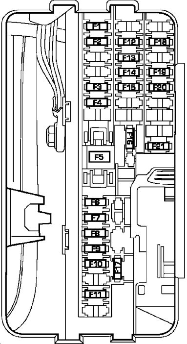 2007 Chrysler Sebring Fuse Box Diagram 2007 Suzuki XL7