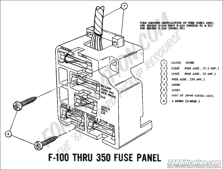 Ford F100 Fuse Box. Ford. Automotive Wiring Diagrams