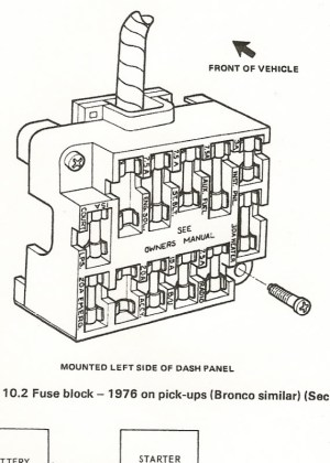 Fuse Block 1976  Ford Truck Enthusiasts Forums for 1978 Ford F150 Fuse Box Diagram | Fuse Box