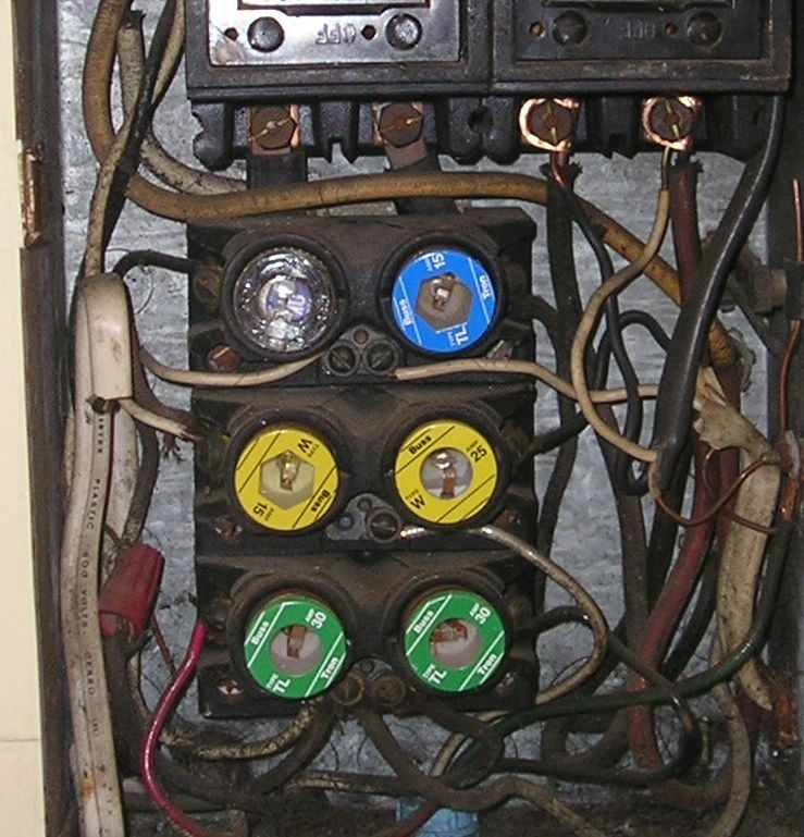 Homeelectricalwiring For Breakers And Fuses Inside A Breaker Box