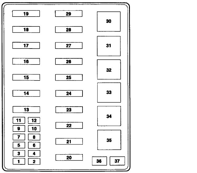 2000 f250 7.3 fuse box diagram