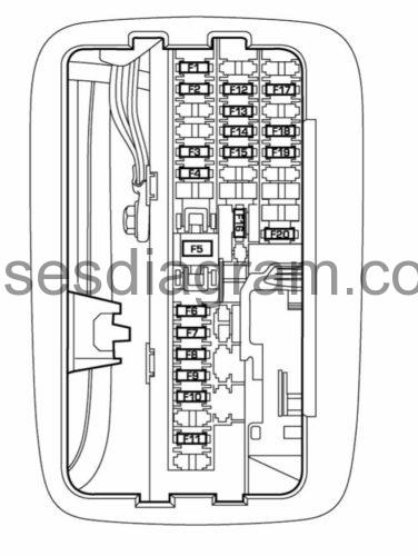 Fuses And Relays Box Diagram Dodge Durango 2 throughout